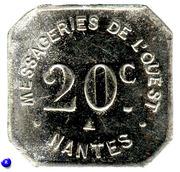 20 Centimes - Messageries de l'Ouest - Nantes [44] – obverse