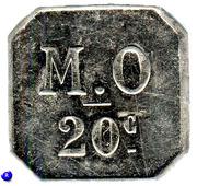 20 Centimes - Messageries de l'Ouest - Nantes [44] – reverse