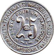 25 Centimes Tramways Marseille 13 – reverse