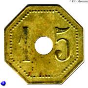 15 Centimes - Compagnie Générale Française de Tramways (Orléans) – reverse