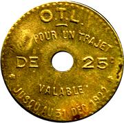 25 Centimes - OTL Lyon – reverse