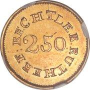 2 ½ Dollars - C. Bechtler (Quarter Eagle) – reverse