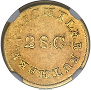 1 Dollar - C. Bechtler (Carolina Gold) – obverse