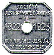 30 CENTIMES TRAMWAYS D AMIENS – obverse