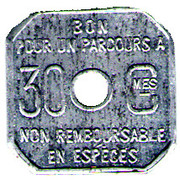30 CENTIMES TRAMWAYS D AMIENS – reverse