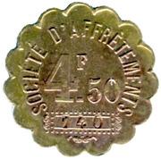 4½ Francs Société d'Affrètements - Le Havre [76] – reverse