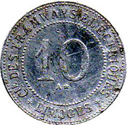 10 Centimes Limoges 87 – reverse