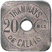20 Centimes (Calais Tramways) – obverse