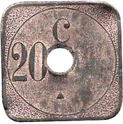 20 Centimes (Calais Tramways) – reverse