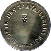 Société des travailleurs unis - Lyon [69] – reverse