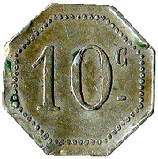 10 Centimes - Cantinier Forster - Alès [30] – obverse