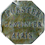 10 Centimes - Cantinier Forster - Alès [30] – reverse