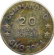 Token - Command HQ (20 Years) – obverse