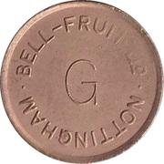 Token - Bell-Fruit (Nottingham - C/G) – reverse