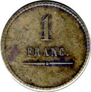 1 Franc Perret Frères et Olivier - Sain-Bel [69] – reverse