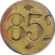 85 Centimes (Société des Habitations des Aciéries Électriques) – reverse