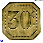 30 Centimes (Société des Habitations des Aciéries Électriques) – reverse