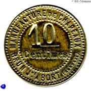 10 Centimes - Manufacture de Chapeaux Brun Jne  - Bort-les-Orgues [19] – reverse
