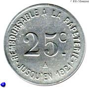 25 Centimes - Etablissement de la Risle - Pont-Audemer [27] – reverse