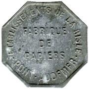 10 Centimes - Etablissement de la Risle - Pont-Audemer [27] – obverse