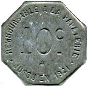 10 Centimes - Etablissement de la Risle - Pont-Audemer [27] – reverse