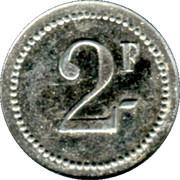2 Francs (Arçonnerie Française, St Sulpice) – reverse