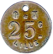 25 Centimes - G & N - Lille [59] – reverse
