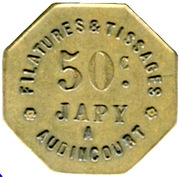 50 Centimes - Filatures et Tissages JAPY - Audincourt [25] – reverse
