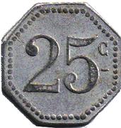 25 Centimes S A des bains de mer du Grau du roi (30) – reverse