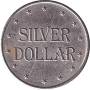 Game Token - Half Win Silver Dollar – reverse