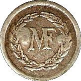 1 Francs M F - Manufacture Française d'Armes et cycles - Saint-Etienne [42] – obverse