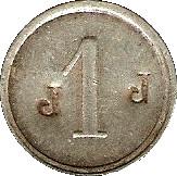 1 Francs M F - Manufacture Française d'Armes et cycles - Saint-Etienne [42] – reverse