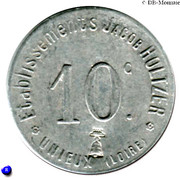 10 Centimes Etablissements Jacob Holtzer Unieux [42] – obverse