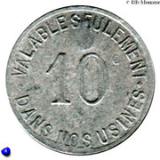 10 Centimes Etablissements Jacob Holtzer Unieux [42] – reverse