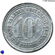 10 Centimes (Vichy) – reverse