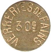 30 Centimes - Verreries de Fains [55] – reverse