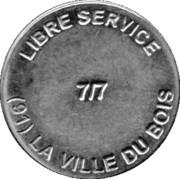 Car Wash Token - Libre Service (La ville du bois) – obverse