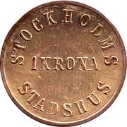 1 Krona - Stockholms Stadshus – reverse