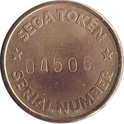 Token - Sega (with serial number) – reverse