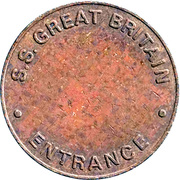 Token - S.S. Great Britain (Entrance) – reverse