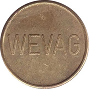 Car Wash Token - Wevag – obverse