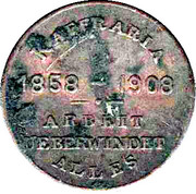 50 Year celebration of German settlers in South Africa – obverse