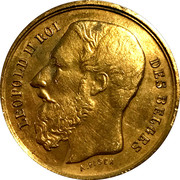 Token -  Leopold II (International competition of science and industry of 1888) – obverse