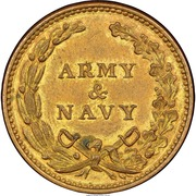 Token - Army & Navy – reverse