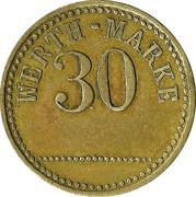 30 Werth-Marke – obverse