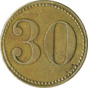30 Werth-Marke – reverse