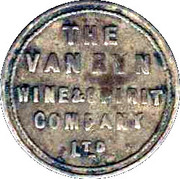 3 Pence - The Van Ryn Wine and Spirit Company – obverse