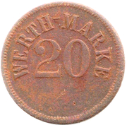 20 Pfennig (Werth-Marke) – obverse