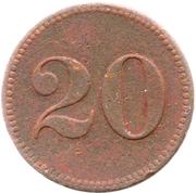 20 Pfennig (Werth-Marke) – reverse