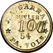 1 Dollar - J.A. Garman (54th Pennsylvania Volunteers) – obverse
